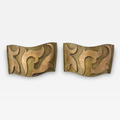 Garouste Bonetti Pair of Bronze Sonate Sconces by Garouste Bonetti