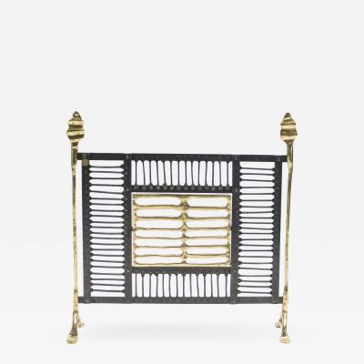 Garouste Bonetti Unique brass and iron fire screen manner of Garouste et Bonetti 1980s