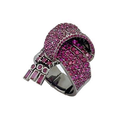 Garrard Co Fabulous Garrard Ruby Ribbon Ring