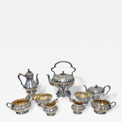 Garrard Co Magnificent Tea Coffee Service Garrard Co London 1839 42 Original Box