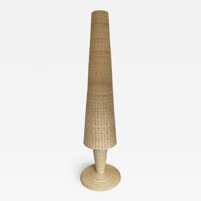 Gasparucci Italo Rattan Floor Lamp by Gasparucci Italo Italy 1980s