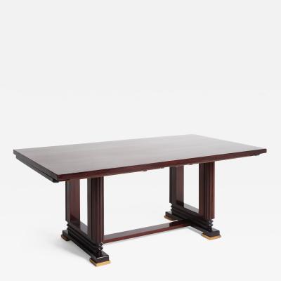 Gauthier Poinsignon Art Deco Mahogany Extending Dining Table by Gauthier Poinsignon