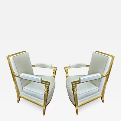 Genes Babut Genes Babut and Poillerat superb pair of French Neo classic chairs