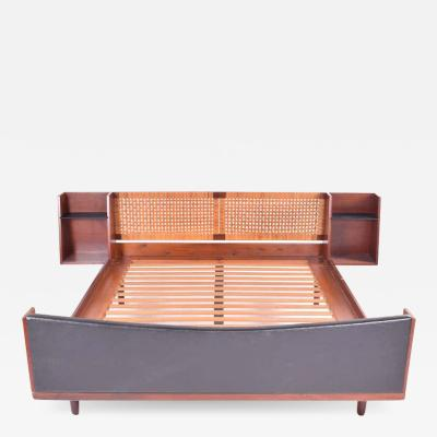 Getama Midcentury Hans J Wegner Double Master Bed with Teak and Rattan