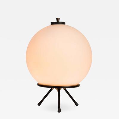 Gilardi Barzaghi 1960s Gilardi Barzaghi Large Glass Tripod Table or Floor Lamp