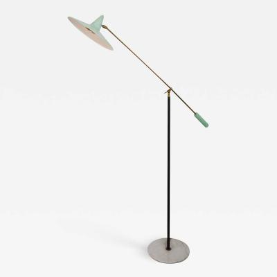Gilardi Barzaghi Floor Lamp With Swinging Arm by Gilardi Barzaghi