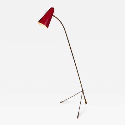 Gilardi Barzaghi Large 1950s Gilardi Barzaghi Adjustable Floor Lamp