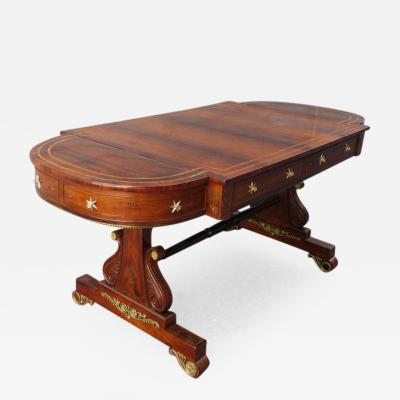 Gillows of Lancaster London 19th C English Regency Rosewood Sofa Table by Gillows