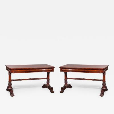 Gillows of Lancaster London A Pair of George IV William IV Console Tables in the Style of Gillows