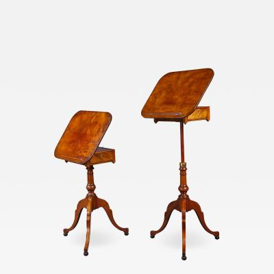 Gillows of Lancaster London A Rare Pair of George III Telescopic Reading Tables Attributed to Gillows