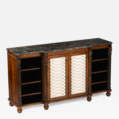 Gillows of Lancaster London A Regency Rosewood Breakfront Side Cabinet