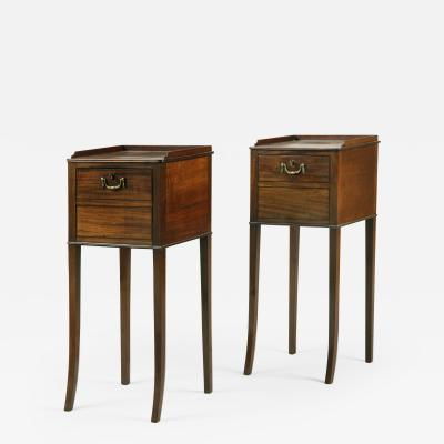 Gillows of Lancaster London Antique English Superb Pair of Georgian Mahogany Bedside Tables Cabinets Gillows
