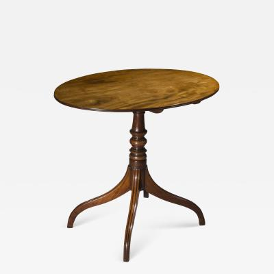 Gillows of Lancaster London English George III Regency Oval Lamp Table in Faded Mahogany
