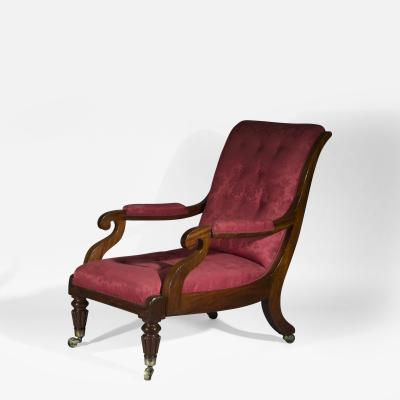 Gillows of Lancaster London Large Regency Library Armchair