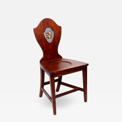 Gillows of Lancaster London Late 18th Century Shield Back Hall Chair