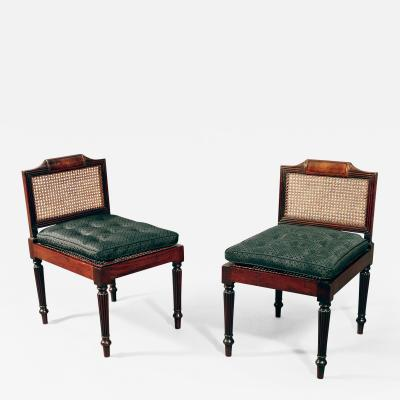 Gillows of Lancaster London Possibly Unique Pair of Georgian Cuban Mahogany Library Hall Seats Benches