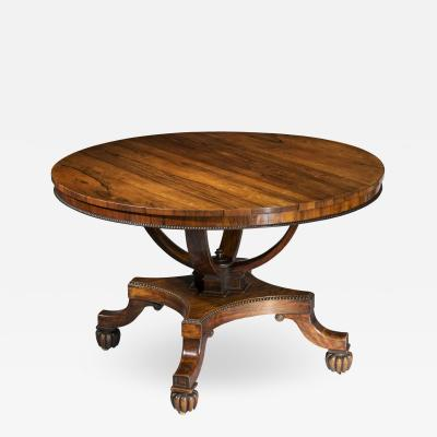 Gillows of Lancaster London Regency Centre Table attributed to Gillows