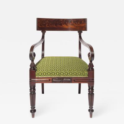 Gillows of Lancaster London Regency Desk Chair