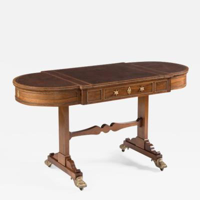 Gillows of Lancaster London Regency Period Rosewood Games Table Attributed to Gillows of Lancaster
