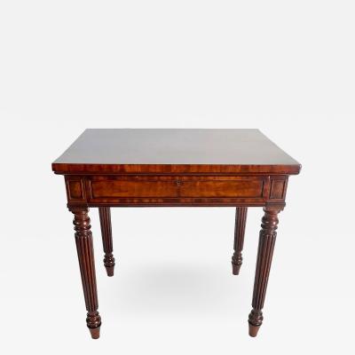 Gillows of Lancaster London Regency Solid Fustic Mahogany Side Table by Gillows of Lancaster London