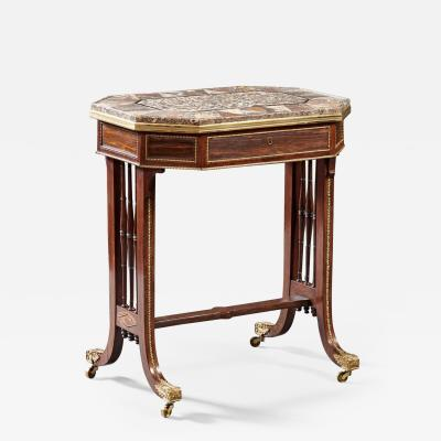 Gillows of Lancaster London Regency Specimen Marble Top Table
