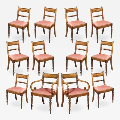 Gillows of Lancaster London Set of Twelve Regency Dining Chairs