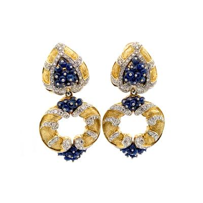 Giovane Giovane Sapphire and Diamond Earrngs