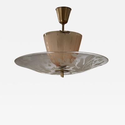Gl ssner Glossner decorated glass pendant lamp
