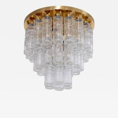 Glash tte Limburg 1 of 17 Huge Glass and Brass Flush Mounts or Chandeliers by Glash tte Limburg