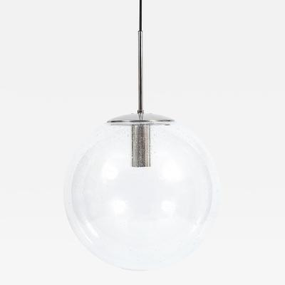 Glash tte Limburg 4 Large Clear Glass Ball Lights 1960
