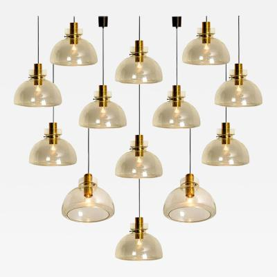 Glash tte Limburg Large Set of Herbert Proft Limburg Glash tte Pendant Lights P210 4207 1960