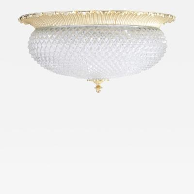 Glash tte Limburg Oversized Glash tte Limburg Glass Flush Mount with Gold Plated Base