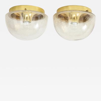 Glash tte Limburg Pair of 1970s Glass Dome Sconces by Limburg