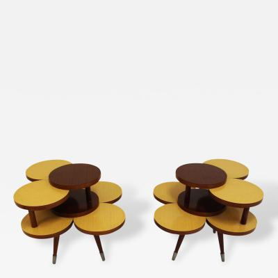 Glenn of California Pair of Glenn of California Attributed Side Tables or End Tables