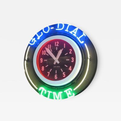 Glo Dial Rare Double Sided Hanging Neon Clock and Thermometer by Glo Dial