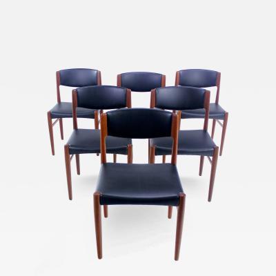 Glostrup Mobelfabrik Set of Six Danish Modern Teak Dining Chairs by Glostrup M belfabrik