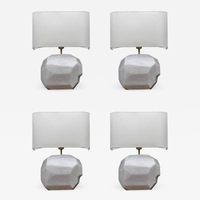 Glustin Luminaires Glustin Luminaires Creation Alabaster and Brass Wall Sconces