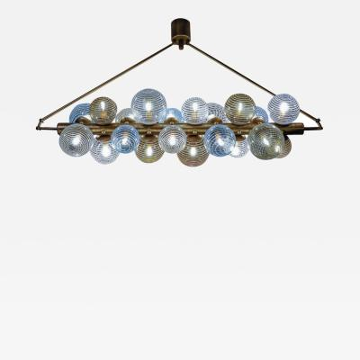 Glustin Luminaires Glustin Luminaires Creation Line Chandelier with Murano Glass Globes
