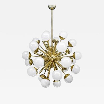 Glustin Luminaires Glustin Luminaires Sputnik Chandelier with Iridescent Globes