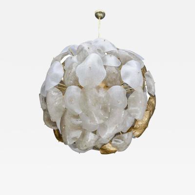 Glustin Luminaires Opulent Murano Glass Sphere Chandelier