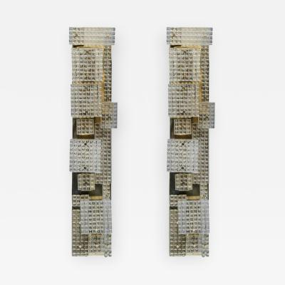 Glustin Luminaires Pair of Glustin Luminaires Creation Tall Wall Sconces
