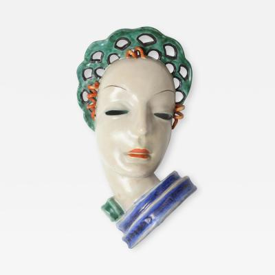 Gmundner Keramik Gmundner Keramik Art Deco mask of a Woman 1930 Austria