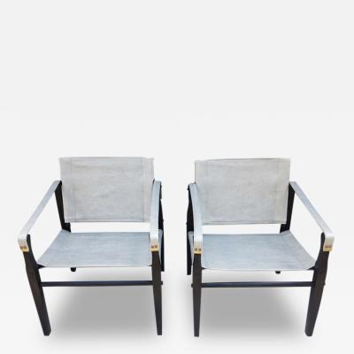 Gold Medal Pair 1950s Grey Leather Goldmedal Chair Co Chairs