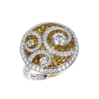 Graff GRAFF DIAMOND AND YELLOW DIAMOND DIAMOND ON DIAMOND WHITE GOLD RING