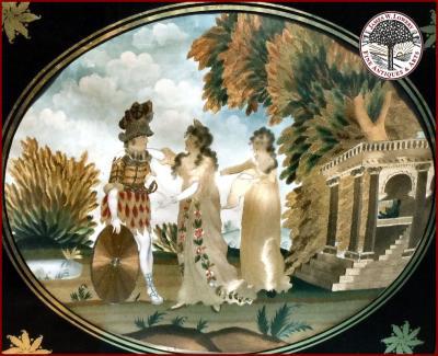 Greek Roman Mythology Folwell School SILK EMBROIDERY