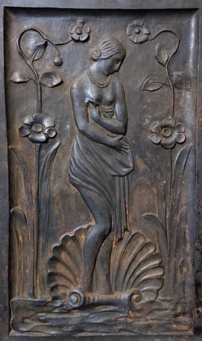 Greek Roman Mythology Lady on Half Shell