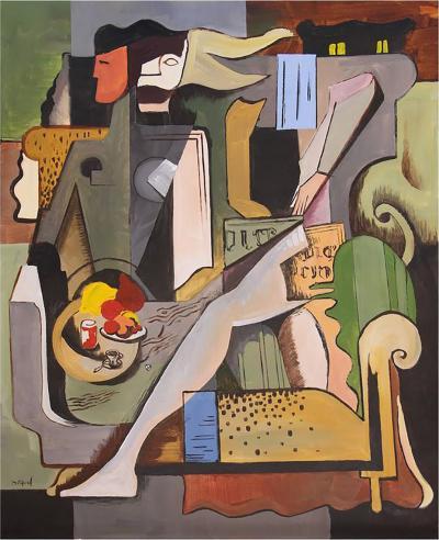 Greg Mathias Greg Mathias Cubist Lady in an Interior