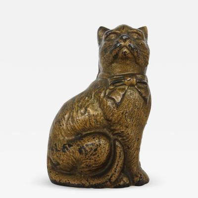 Grey Iron Casting Company Seated Cat With A Bow Still Bank American Circa 1922