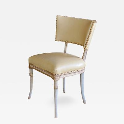 Grosfeld House A graceful American celadon painted Grosfeld House side chair