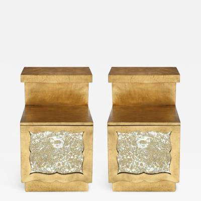 Grosfeld House Grosfeld House 22kt Gold Gilded Night Stands